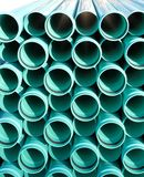 Bright blue PVC pipes Stock Images