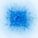 Bright blue rays Royalty Free Stock Photos