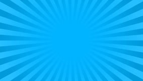 Bright blue rays background. With 16 9 aspect ratio. Comics, pop art style. Vector, eps 10 Royalty Free Stock Image
