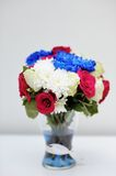 Bright blue and red bouquet Royalty Free Stock Photography