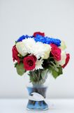 Bright blue and red bouquet Royalty Free Stock Image