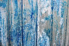 Free Bright Blue Saturated Relief Texture Of A Beautifully Painted Metal Surface With Vertical Stripes And Shabby Erased Paint Stock Photo - 115755350