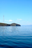 Bright blue sea scenery. Bright blue sea scenery near russian seaport Vladivostok stock image