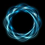 Bright blue shapes on black background Royalty Free Stock Images