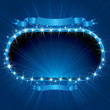 Bright Blue Sign. Retro Neon Sign. Image Ready for Your Text or Design Royalty Free Stock Image
