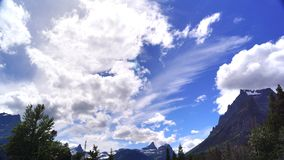 Summer Skies and Mountains, Glacier National Park royalty free stock photography