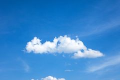 Bright blue sky Stock Images