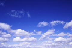 Bright blue sky Stock Image