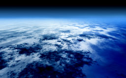 Bright blue sky above the atmosphere world Stock Photography