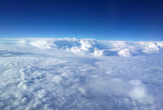 Bright blue sky above the cloud Royalty Free Stock Photo