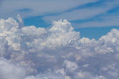 Bright blue sky above the clouds Royalty Free Stock Images