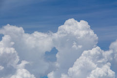 Bright blue sky above the clouds Royalty Free Stock Photos