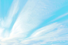 Bright blue sky with cirrus clouds Royalty Free Stock Photos