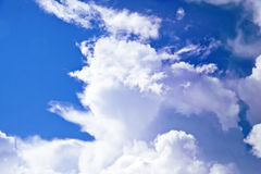 Bright blue sky and clouds. Stock Photos