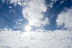 On the bright blue sky. Cloudy sky Royalty Free Stock Photos