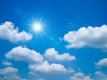 Bright blue sky Landscape Royalty Free Stock Image