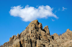 Bright blue sky over the rocks Royalty Free Stock Photography