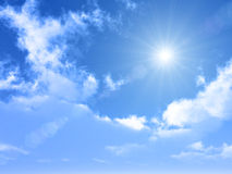 Bright blue sky on summer season Royalty Free Stock Images
