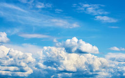 Bright Blue Sky with White Clouds. Bright Blue Sky Background with White Clouds Royalty Free Stock Images