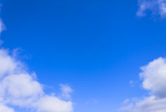 Bright blue sky and white clouds Stock Images