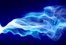 Bright blue smoke royalty free stock photography