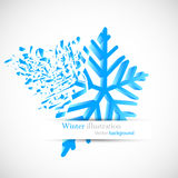Bright blue snowflake. With debris Stock Photography
