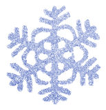 Bright blue snowflake close-up. Stock Images