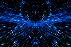 Blue sparks on black background. Bright blue sparks on black background royalty free stock photography
