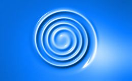 Bright blue spiral geometrical wallpaper Royalty Free Stock Photos
