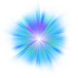 Bright blue star. EPS 8 Royalty Free Stock Image