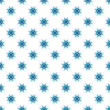 Bright blue star pattern seamless abstract background Royalty Free Stock Photography