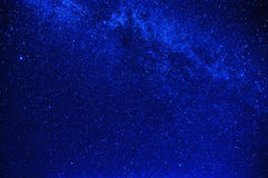Bright blue starry sky with milky way Stock Photography