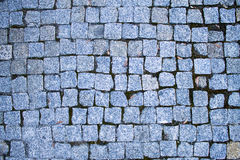 Bright blue stone bricks Stock Image