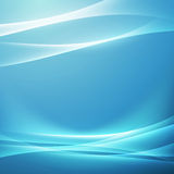Bright blue swoosh glow wave background Royalty Free Stock Photo