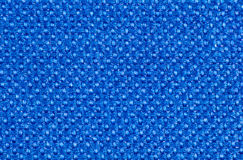 Bright blue synthetic textile fibers Stock Image