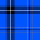 Bright blue tartan Royalty Free Stock Images
