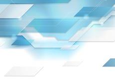 Bright blue tech corporate geometric background. Bright blue tech corporate illustration. Vector background for print flyers, brochure, web graphic design Stock Photo