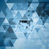 Bright blue tech futuristic triangles design Royalty Free Stock Image