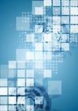 Bright blue tech vector background Stock Photos