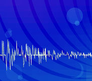 Bright blue techno background stock illustration
