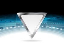 Bright blue technology background with triangle Royalty Free Stock Photography