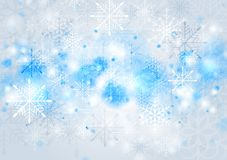 Bright blue vector Christmas background Royalty Free Stock Image