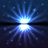 Bright blue vector explode Royalty Free Stock Photos