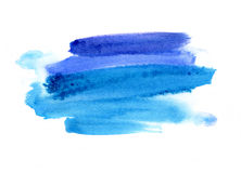 Bright blue watercolor blot on white background Stock Images