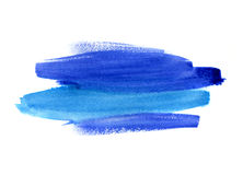 Bright blue watercolor blot on white background Royalty Free Stock Photo
