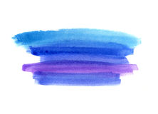 Bright blue watercolor blot on white background Stock Photography