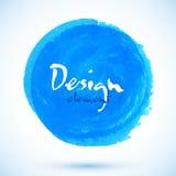 Bright blue watercolor vector circle Stock Photo