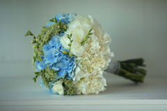 The bright blue-white bouquet Stock Photography