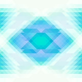 Bright blue and white triangles and rhombus abstract seamless background. Repeating geometric pattern. Vector Royalty Free Stock Images