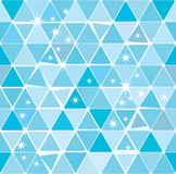 Bright blue winter triangle pattern Royalty Free Stock Image